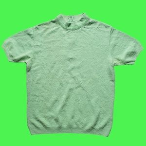 Vintage Mint Mock Neck Tee
